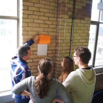 activity at brick wall
