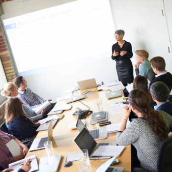 group work in presentation skills workshops
